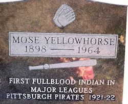 Gravestone of Mose J. Yellowhorse