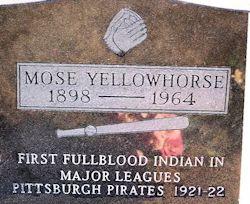 Gravestone of Mose J. Yellowhorse